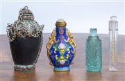 Sale 8650A - Lot 85 - A Chinese Cloisonné perfume bottle, together with some European examples.