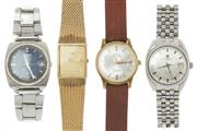 Sale 8790 - Lot 324 - FOUR ASSORTED WRISTWATCHES; a Tissot Seastar automatic, a Seiko automatic ref.7005-7020, a Seiko gold plated quartz ref. 2A32-5010,...
