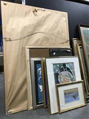 Sale 8797 - Lot 2080 - Group of Various Original Artworks and Decorative Prints incl. Raoul Dufy and Still Life Paintings