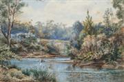 Sale 8838A - Lot 5194 - E W Minchen - Lane Cove River, 1884 23 x 33cm