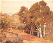 Sale 8929 - Lot 567 - Robert Johnson (1890 - 1964) - Tea Tree Creek, Bathurst, c1928 29.5 x 38 cm