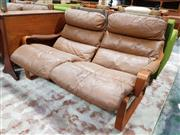 Sale 8930 - Lot 1054 - Pair of Tessa 2 Seater Lounges with Footstool
