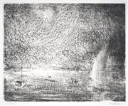 Sale 9032A - Lot 5051 - Lloyd Rees (1895 - 1988) - (Untitled) 1984 39 x 52.5 cm (frame: 75 x 88 x 3 cm)