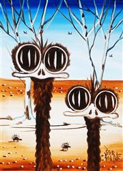Sale 9034A - Lot 5017 - Peter Browne (1947 - ) - Emus and Echidnas 38.5 x 28.5 cm (frame: 58 x 48 x 4 cm)