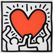Sale 9072A - Lot 5055 - Keith Haring (1958 - 1990) - Together 29 x 29 cm (frame: 66 x 66 cm)
