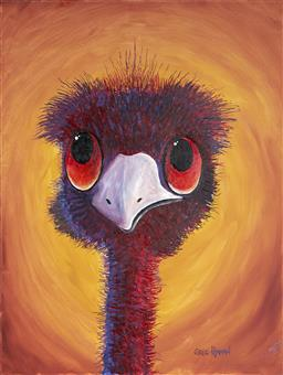 Sale 9081A - Lot 5074 - Greg Lipman (1938 - ) - Emus Forever 102 x 76 cm