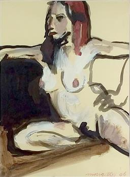 Sale 9142A - Lot 5058 - ROBERT MALHERBE (1965 - ) - Nude Study, 2006 23 x 31 cm (frame: 40 x 49 cm)