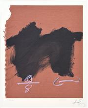 Sale 8794A - Lot 5015 - Antoni Tapies (1923 - 2012) - Deux taches Symétriques ll, 1980 54 x 47cm