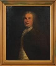 Sale 8459 - Lot 577A - C18th School - Portrait of a Societal Gentleman 75 x 63cm