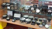 Sale 8585 - Lot 1026 - Large Collection of Pressure Gauges, AMP Meters etc
