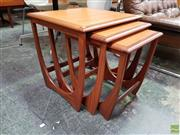 Sale 8625 - Lot 1059 - G-Plan Teak Nest of Three Tables (W: 50cm)