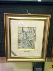 Sale 8640 - Lot 2045 - Artist Unknown - Italian Village Scene 42.5 x 36cm