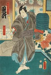 Sale 8777A - Lot 5002 - Toyokuni Utagawa III (1786 - 1865) - 36 x 25cm (frame: 53 x 42cm)