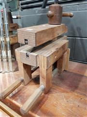 Sale 8908 - Lot 1060 - Old French Wooden Vice
