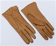 Sale 8926H - Lot 15 - A pair of soft beige pigskin gloves,