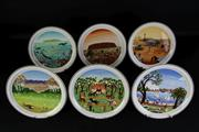 Sale 8994W - Lot 688 - The Complete Set of 6 Scenes of Australia Villeroy & Boch Cabinet Plates