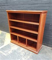 Sale 9051 - Lot 1085 - Timber Open Bookcase (h:123 x w:121 x d:40cm)