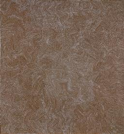 Sale 9171A - Lot 5044 - WARLIMPIRRNGA TJAPALTJARRI (c1950 - ) - Tingari 203 x 187 cm (stretched and ready to hang)