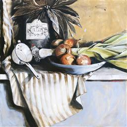 Sale 9249A - Lot 5010 - DIANA WATSON (1940 - ) Cucina, 2002 oil on canvas 91 x 91 cm signed and dated middle right