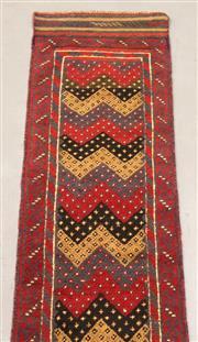 Sale 8445K - Lot 46 - Tribal Meshwani Runner , 245x56cm, Unique Afghan tribal Meshwani rug, handwoven in Northern Afghanistan by nomadic people. Simple ge...