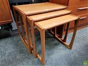 Sale 8607 - Lot 1008 - G-Plan Teak Nest of Three Tables