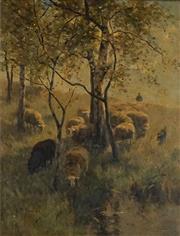 Sale 8565 - Lot 600 - Willem Steelink (1856 - 1928) - Homewards 59.5 x 44.5cm