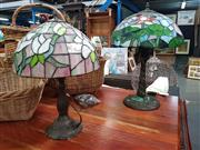 Sale 8669 - Lot 1088 - Collection of Leadlight Shade Table Lamps