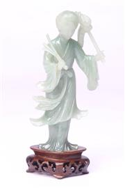 Sale 8698 - Lot 91 - Oriental Lady Figure in Box a/f