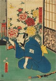 Sale 8777A - Lot 5003 - Toyokuni Utagawa III (1786 - 1865) - 36 x 25cm (frame: 53 x 42cm)