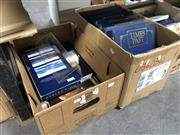 Sale 8789 - Lot 2365 - 2 Boxes of Books incl Times Past Folders of Antique Periodicals & Lawsons/Menzies Catalogues
