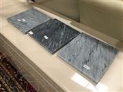 Sale 8851 - Lot 1049 - Set of 3 Grey Marble Trivetts (20cm)