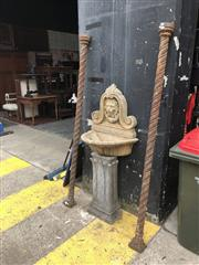 Sale 8868 - Lot 1508 - Pair of Victorian Cast Iron Window Columns