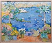 Sale 8990H - Lot 7 - Eva Hannah, By The Harbour, View from Point Piper, oil on canvas, signed and dated lower left 72 Height 112cm x Width 126cm