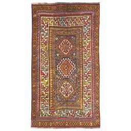 Sale 9124C - Lot 20 - Antique Caucasian Kazak Rug, Circa 1940, 140x245cm, Handspun Wool