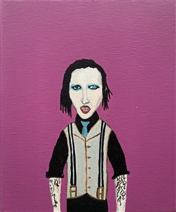 Sale 9142A - Lot 5060 - MARC ETHERINGTON (1973 - ) - Marilyn Manson, 2012 30 x 25 cm