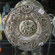 Sale 8379 - Lot 20 - Silver Plated Centrepiece Decorated with Equestrian Scenes