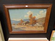 Sale 8474 - Lot 2017 - Guillermo Grossmacht (1877 - 1964) - Untitled (Highland Cottages) 39 x 59cm