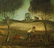 Sale 8656 - Lot 546 - Kevin Charles (Pro) Hart (1928 - 2006) - Miner 20 x 22.5cm