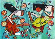 Sale 8723A - Lot 5005 - Janine Daddo (1959 - ) - Fly Through the Flowers 77 x 108cm (frame: 99 x 129cm)