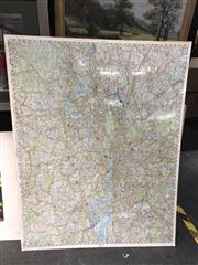 Sale 8816 - Lot 2071 - Mounted Map of London