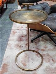 Sale 8930 - Lot 1056 - English Brass Single Stem Side Table