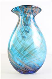 Sale 8989 - Lot 88 - Vintage Italian Aventurine Glass Vase, Possibly Fratelli Toso (H35cm)