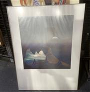 Sale 9087 - Lot 2027 - Two Alu Bloc Frames with prints AB 60x80 Antireflex (made in germany)