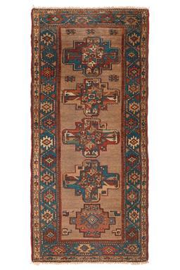 Sale 9124C - Lot 21 - Vintage Persian Nomdic Hamadan, 90x200cm, Handspun Camel Wool