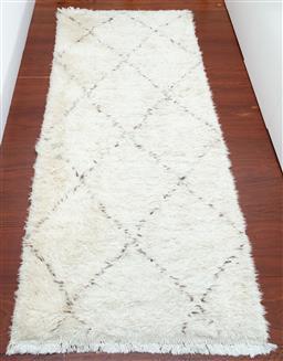 Sale 9150H - Lot 3 - A pair of berber woollen shag rugs Length 210cm x width 87cm