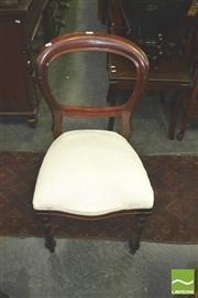Sale 8371 - Lot 1047 - Set of Six Balloon Back Chairs with Cream Upholstered Seats & Seat Covers