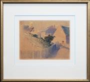 Sale 8427 - Lot 585 - Tom Garrett (1879 - 1952) - Crooked Lane 21.5 x 30cm