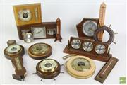 Sale 8466 - Lot 9 - Anaroid Barometer with Others inc German Made