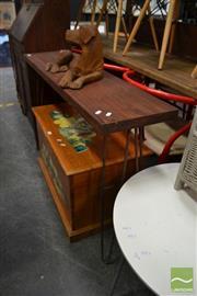 Sale 8480 - Lot 1121 - Mahogany Top Hall Table on Metal Legs