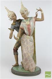 Sale 8516 - Lot 63 - Lladro Thai Couple Figurine